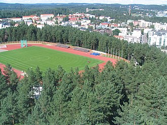JJK Jyväskylä - Harjun Stadion – aerial view