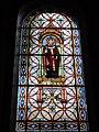 Haspres (Nord, Fr) église, vitrail Saint Hugues.JPG
