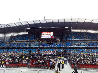 Ricky Hatton vs. Juan Lazcano - The City of Manchester Stadium pictured before the fight.