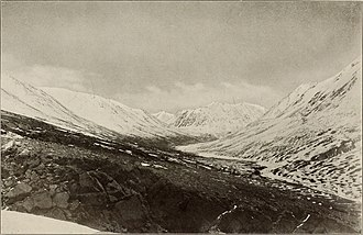 Wakhjir Pass - Photo of the valley before the pass by Aurel Stein