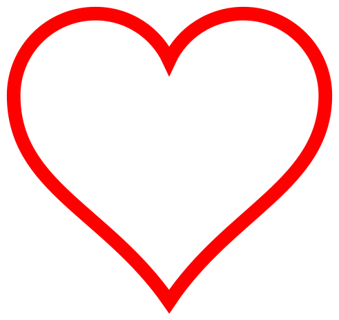 File:Heart icon red hollow.svg