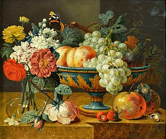 Fruit Bowl With Flowers, First Half Of 17th Century