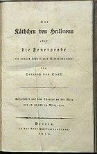 Titelblatt der Erstausgabe 1810 (Quelle: Wikimedia)