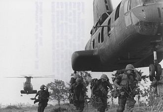 Operation Meade River - Marines of the 5th Marine Regiment deploy by helicopter to begin the operation