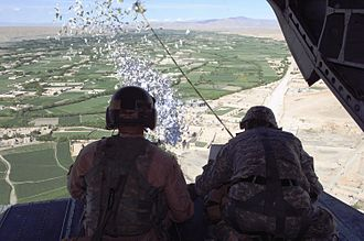 Flyer (pamphlet) - Distribution of leaflets over Afghanistan by the U.S. military in 2010
