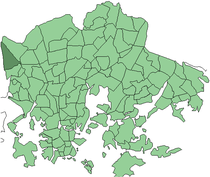 Position of Konala within Helsinki