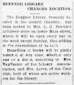 Heppner Library Relocation Notification (Heppner, Oregon).png