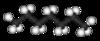 Kugel-Stab-Modell von Heptan