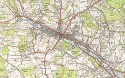High Wycombe map1945