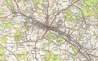 High Wycombe - A map of High Wycombe from 1945