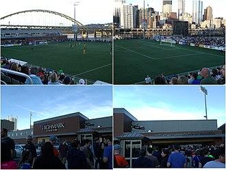 Pittsburgh Riverhounds SC - Image: Highmark Stadium collage