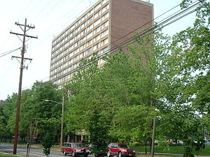 Old Louisville - The Hillebrand house is one of several residential high rises in Old Louisville