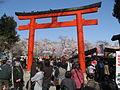 Hirano Shrine Torii Gate off Nishiōji Street.JPG