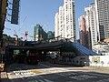 Ho Man Tin Station entrances C2 under construction in November 2014.JPG