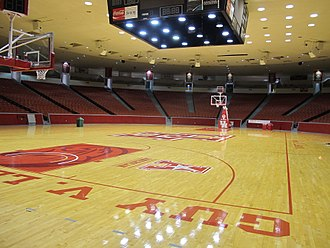Hofheinz Pavilion - Houston's Hofheinz Pavilion Court Looking Up, 2016