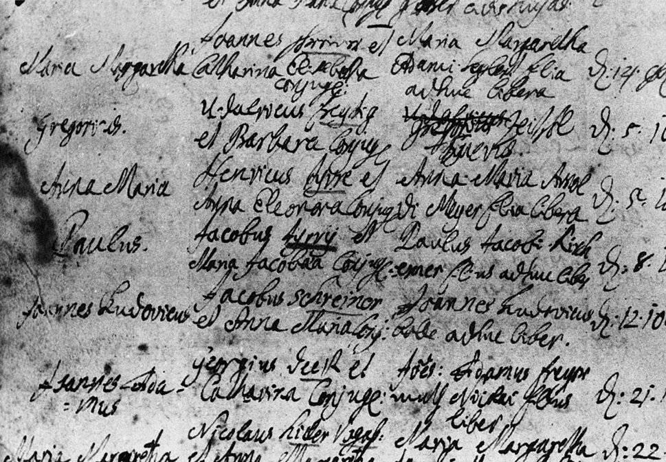 Holbach - Baptism Certificate