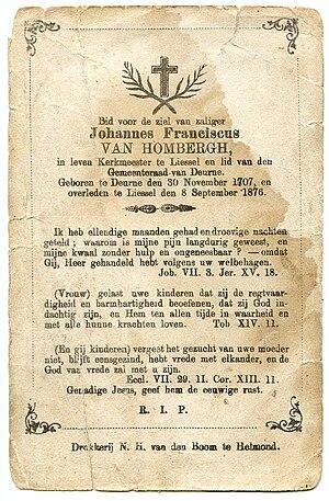 Dag en jaar van geboorte kloppen niet op het prentje. Gedachtenisprentje collectie Bidprentjes van heemkundekring H.N. Ouwerling.