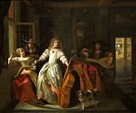 Hooch, Pieter de - A Musical Conversation, 1674.jpg