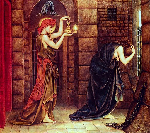 Evelyn De Morgan, Hope in the Prison of Despair, 1887, Wikimedia Commons
