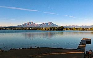 Lathrop State Park - Horseshoe Lake and the Spanish Peaks.