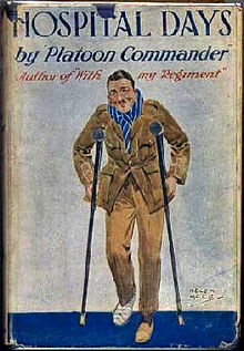 The author pictured on the dust jacket of his 1916 memoir, Hospital Days