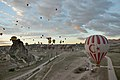 Hot air balloon start in Cappadocia 2014.jpg