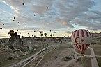 Hot air balloon start in Cappadocia 2014.jpg