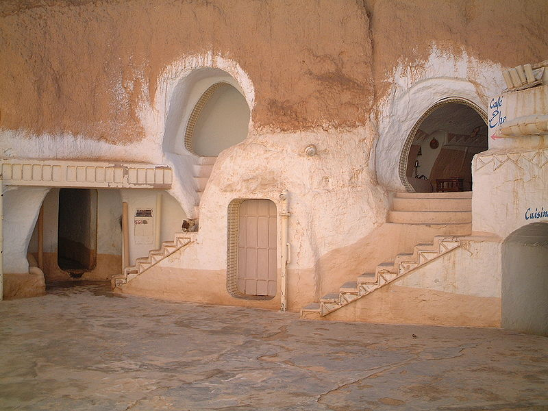 Underground courtyard of Hotel Sidi Driss, Star Wars filming location. Tunisia