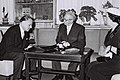 Hugo Tamm with Yitzhak Ben-Zvi and Golda Meir after presenting his credential. 1960. D760-025.jpg