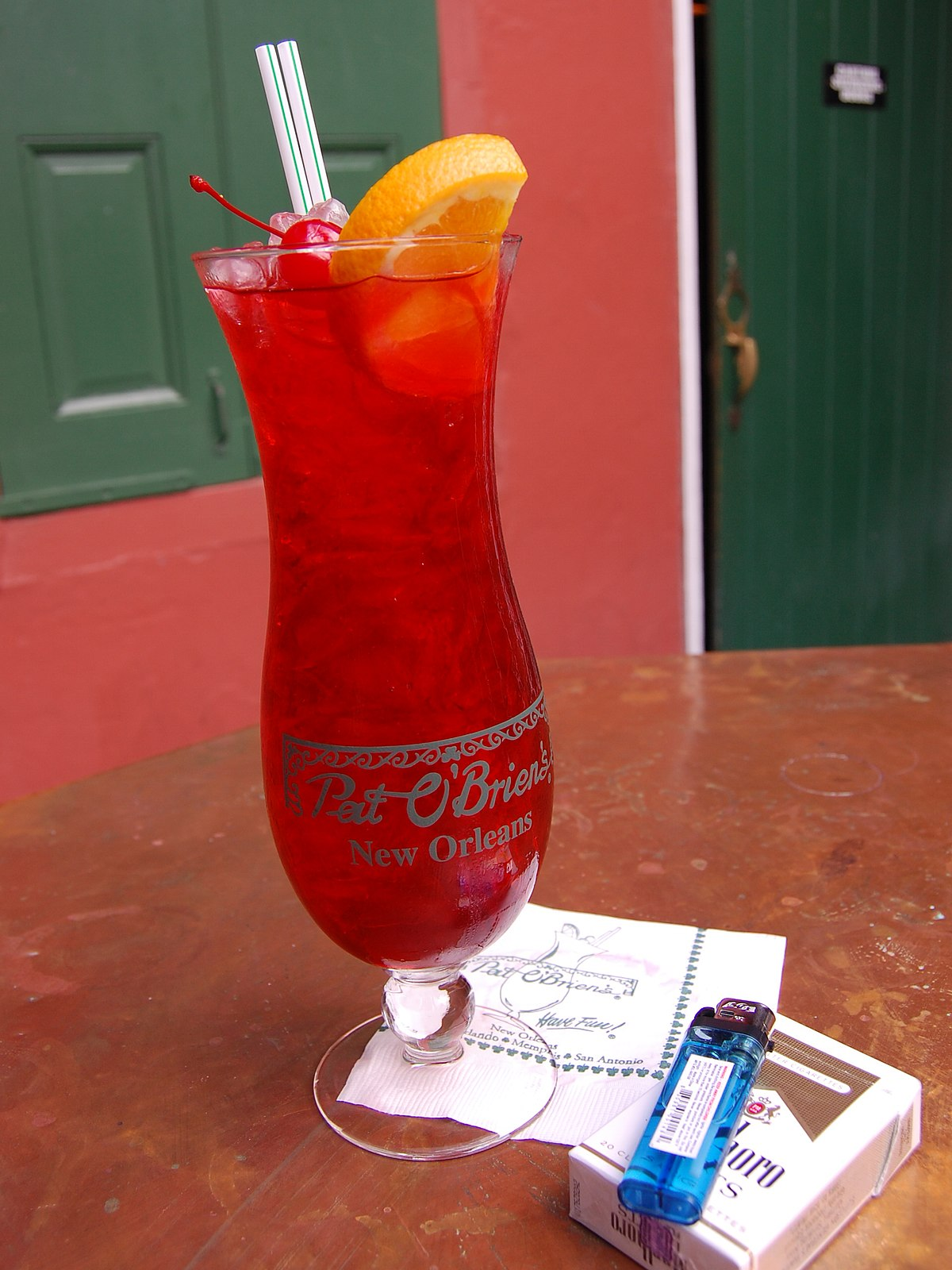 hurricane orleans cocktail louisiana file commons drink wikipedia recipe glass wikimedia brien pat
