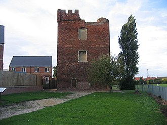 John Hussey, 1st Baron Hussey of Sleaford - Hussey Tower: The ruins of Lord Hussey's medieval manor house – Hussey Tower –  are all that is left following  the orders of King Henry VIII to destroy it.