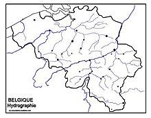 Carte Belgique Hydrographie.Geographie De La Belgique Wikipedia
