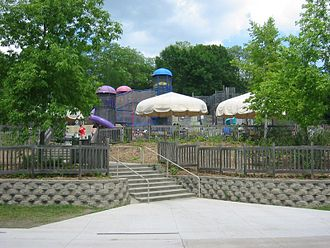 Three Rivers Park District - Play equipment in Hyland Lake Park Reserve