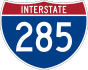 Interstate 285 marker