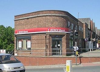 ICICI Bank - ICICI Bank in the Harehills district of Leeds, England.