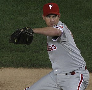 Roy Oswalt - Oswalt pitching for the Philadelphia Phillies in 2010