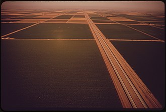 Interstate 8 - I-8 in the Imperial Valley, 1972