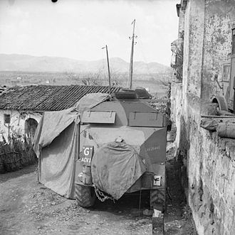 AEC Armoured Command Vehicle - An ACV of 23rd Brigade HQ at Francolise, 14 March 1944.