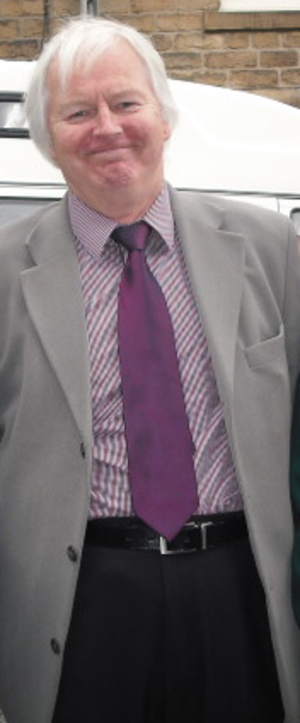 Ian Lavender - Lavender in Hayfield, Derbyshire, to unveil a plaque to Arthur Lowe in 2011.