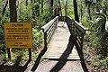 Ichetucknee Springs State Park Blue Hole Trail pedestrian bridge to end.jpg