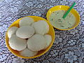 Idli with a bowl of chutney.jpg