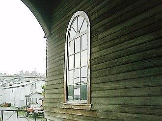 Church of Santa María de Loreto, Achao - Image: Iglesia de Achao ventana