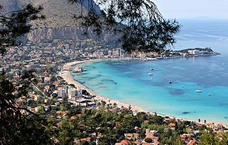 Palermo - Gulf of Mondello seen from Monte Pellegrino