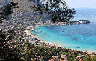 Palermo - Gulf of Mondello seen from Monte Pellegrino