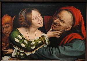 Ill-Matched Marriage - Image: Ill Matched Lovers by Quentin Massys, Netherlandish, c. 1520 1525, oil on panel National Gallery of Art, Washington DSC09936