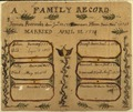 Illustrated family record (Fraktur) found in Revolutionary War Pension and Bounty-Land-Warrant Application File... - NARA - 300090.tif