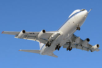 Ilyushin Il-80 - Aerial refueling Probe-and-drogue system visible at the forward left side of fuselage