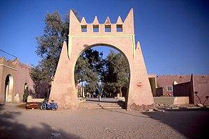 In Salah - City gate of In Salah.