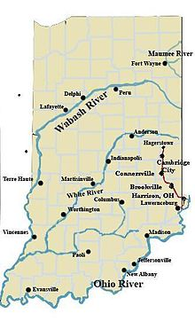 Indiana Rivers Map Indiana Map - Indiana rivers map