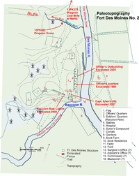 Map Of Prehistoric And Historic American Indian Sites In Downtown Des Moines